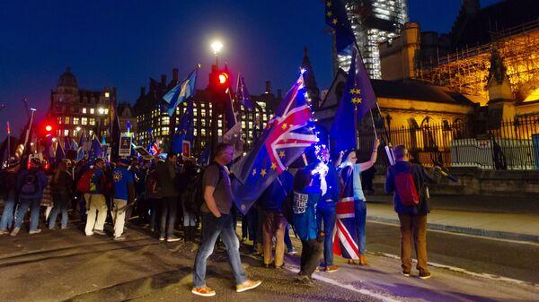 Участники акции против Brexit в Лондоне