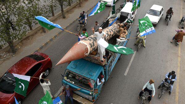 Антииндийская акция протеста в Карачи