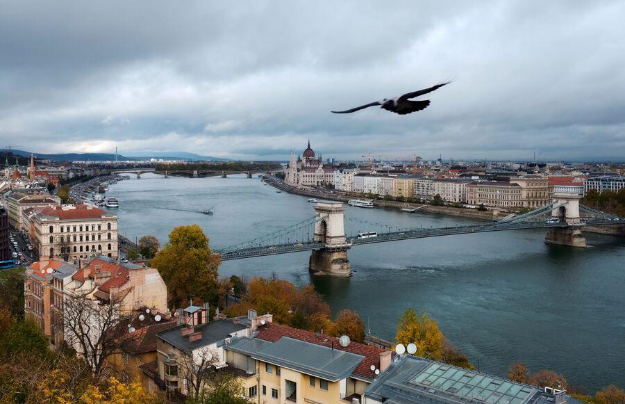 Река Дунай в Будапеште