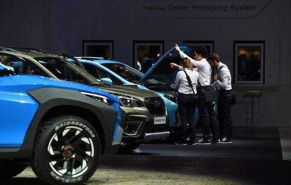 Стенд компании Subaru на Международном Женевском автосалоне 2019
