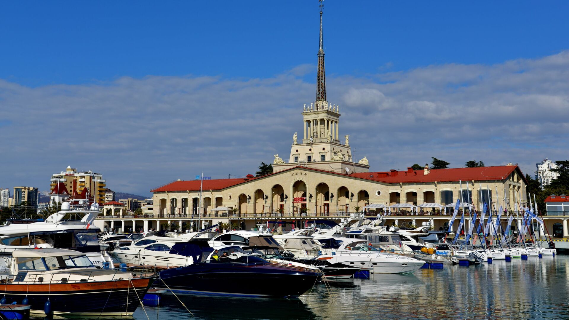 Вид на здание морского порта в Сочи - РИА Новости, 1920, 21.10.2020