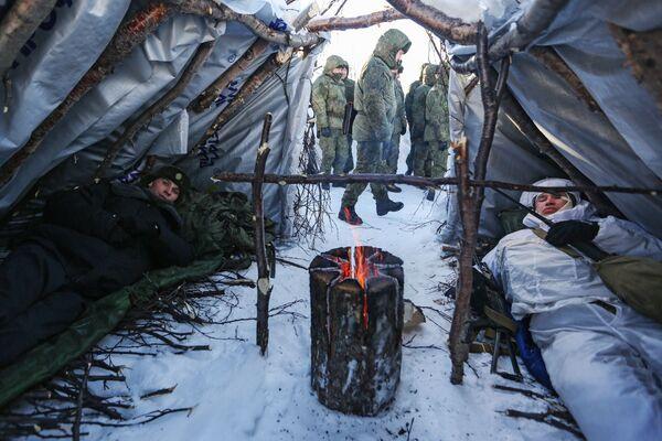 Тактико-специальные учения офицерского состава сухопутных и береговых войск Северного флота РФ