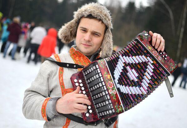 Участник Бакшевской Масленицы в Истринском районе Московской области