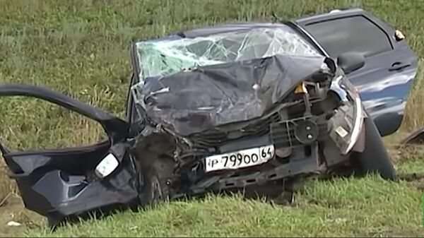 Машина Копытина после аварии