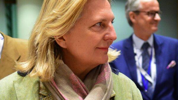 Министр иностранных дел Австрии Карин Кнайсль на Третьей международной донорской конференции по Сирии в Брюсселе. 14 марта 2019
