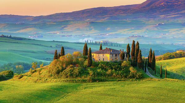 Тосканский пейзаж, Италия