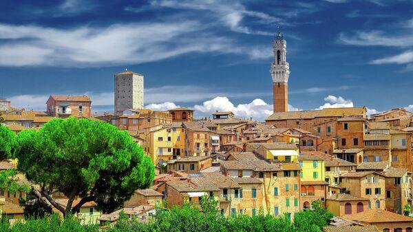 Исторический центр города Сиена в Италии