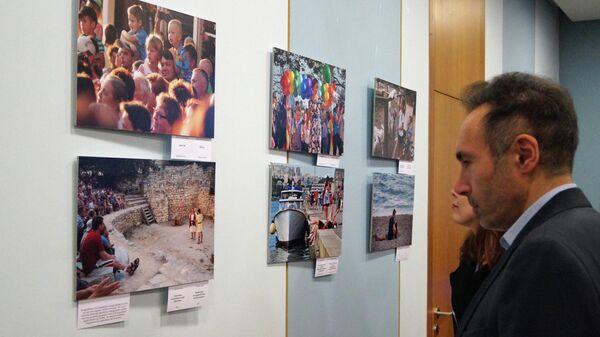 На открытии выставки Крым сегодня в Греции