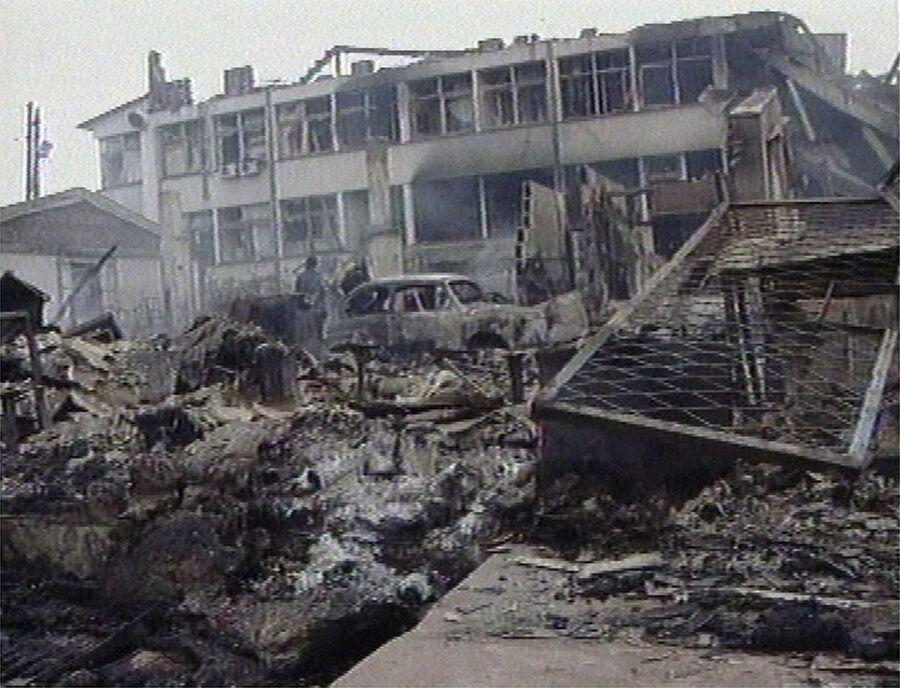 Приштина после бомбардировки