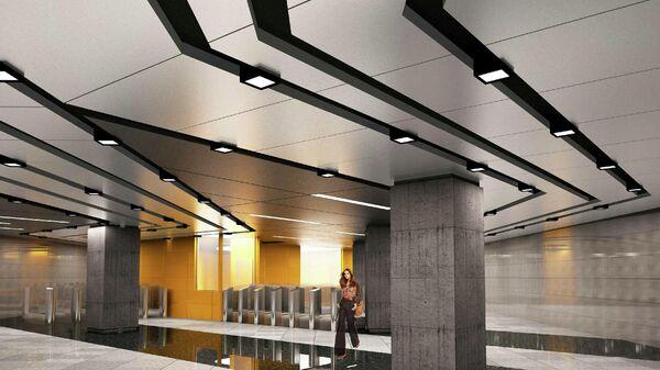 Дизайн-проект станции Зюзино Большой кольцевой линии метро на юго-западе Москвы