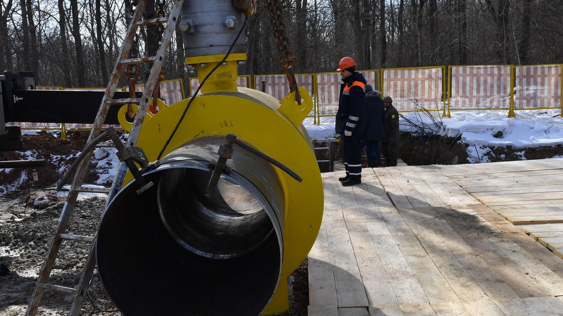 Строительство газопровода - РИА Новости, 1920, 19.03.2019