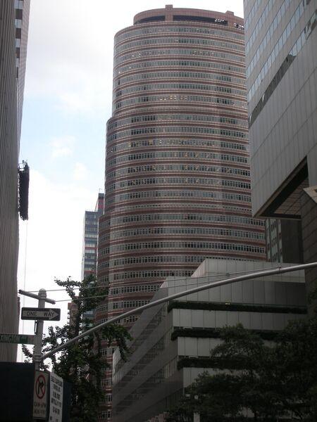 Здание-помада в Нью-Йорке