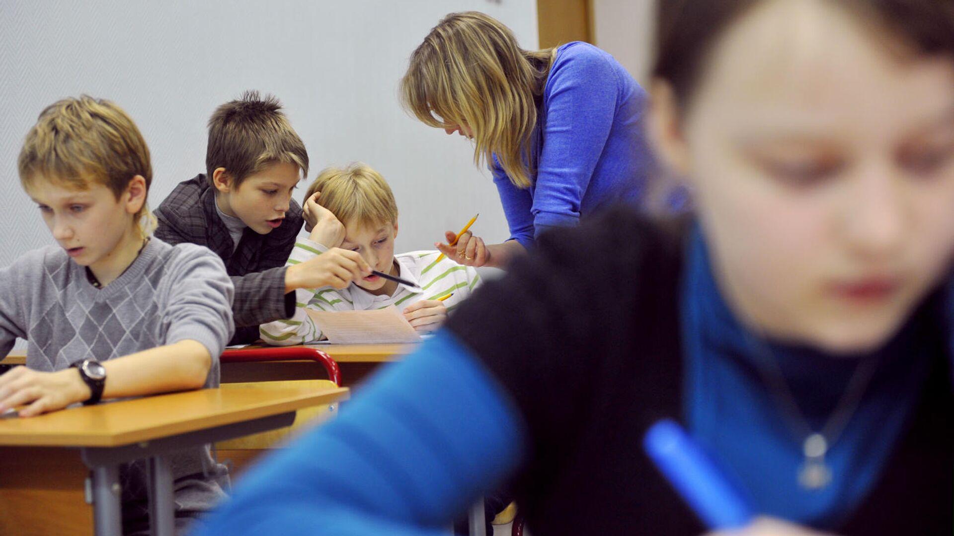 Ученики во время занятия - РИА Новости, 1920, 22.01.2021