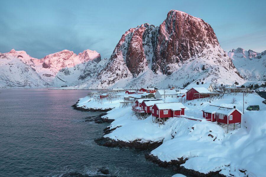 Самая популярная деревня Лофотенских островов - Хамной