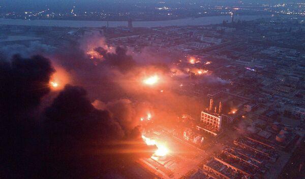 Взрыв на химзаводе в китайской восточной провинции Цзянсу