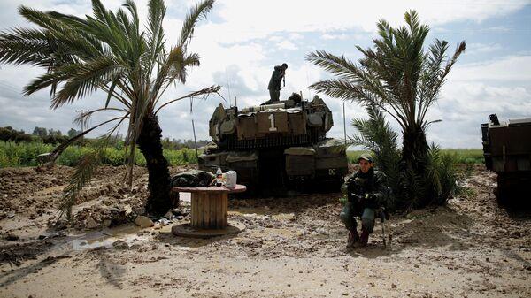 Израильские военные у границы с сектором Газа. 25 марта 2019