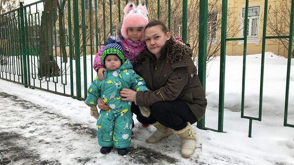 Олеся Уткина с детьми