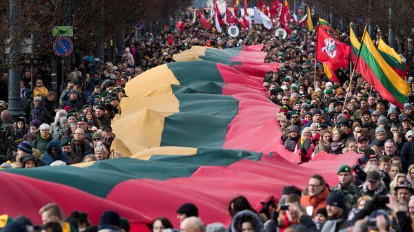 Празднование дня независимости Литвы в Вильнюсе