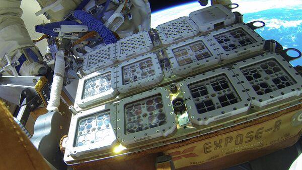 Установка BIOMEX на борту модуля Заря