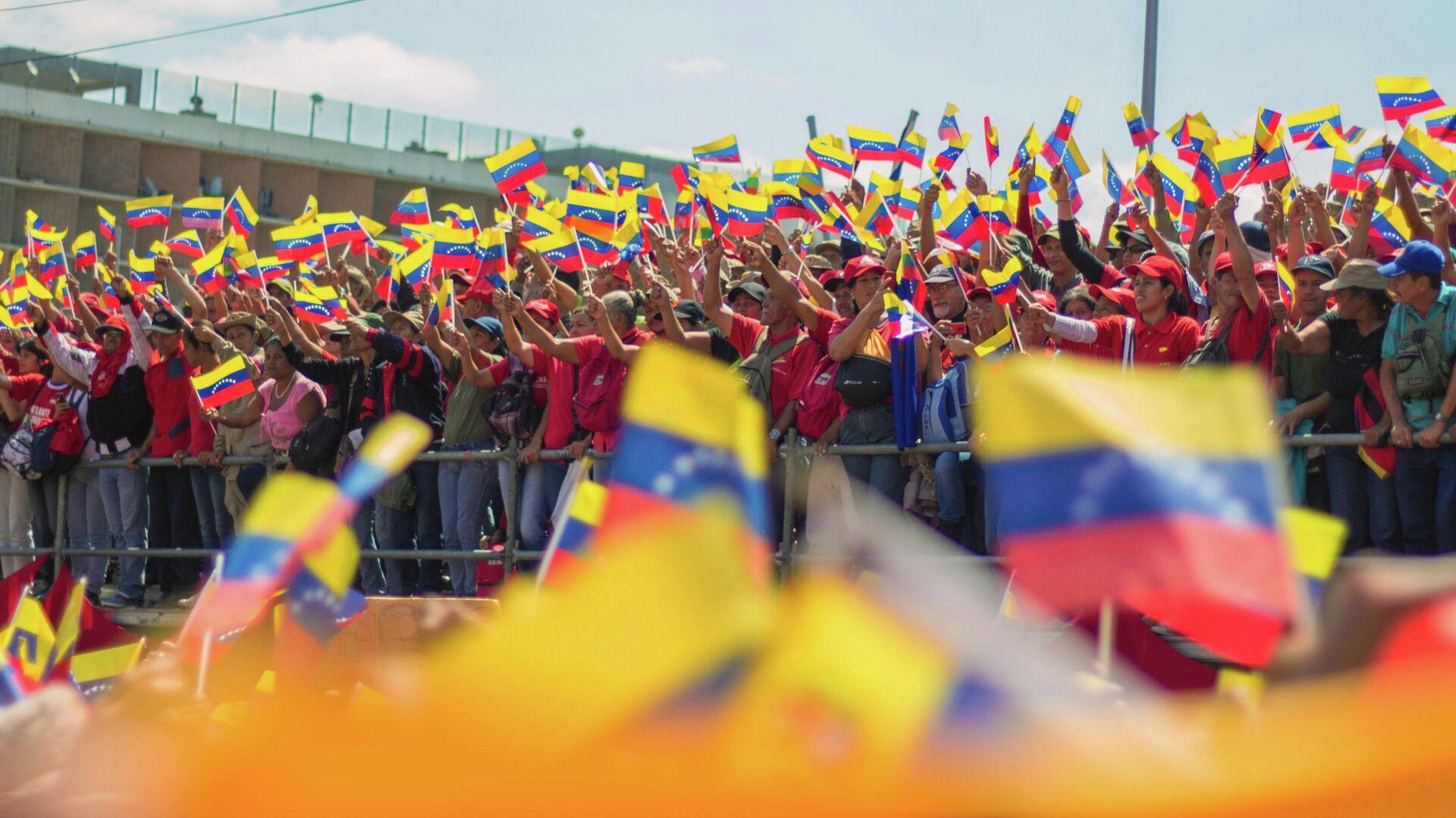 Акция в поддержку президента Венесуэлы Николаса Мадуро - РИА Новости, 1920, 04.01.2021