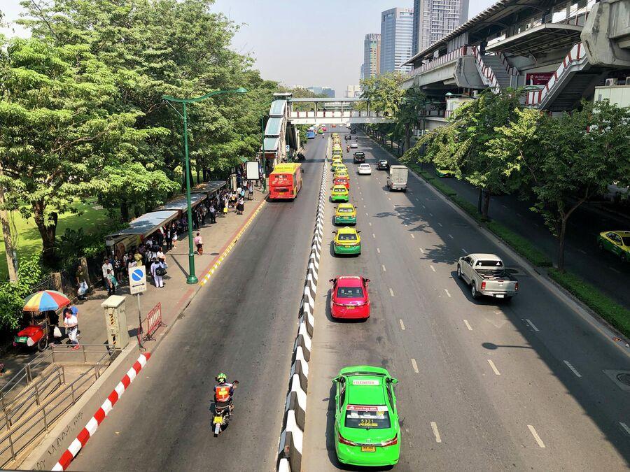 Машины такси, Бангкок, Таиланд