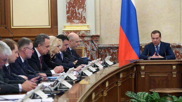 Председатель правительства РФ Дмитрий Медведев проводит заседание правительства РФ. 28 марта 2019
