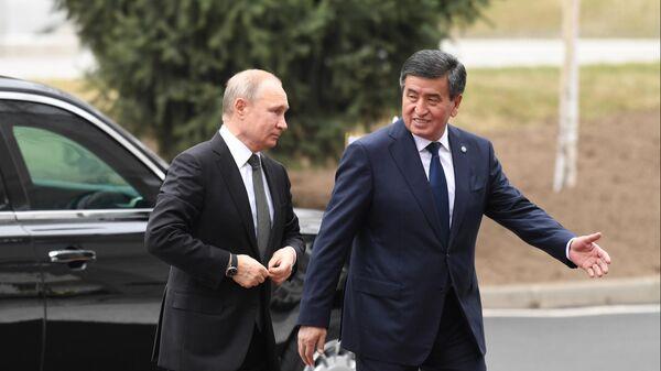 Президент РФ Владимир Путин и президент Киргизии Сооронбай Жээнбеков. 28 марта 2019