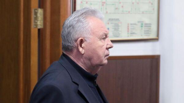 Экс-губернатор Хабаровского края и бывший полномочный представитель президента в Дальневосточном федеральном округе Виктор Ишаев на заседании Басманного суда города Москвы. 28 марта 2019