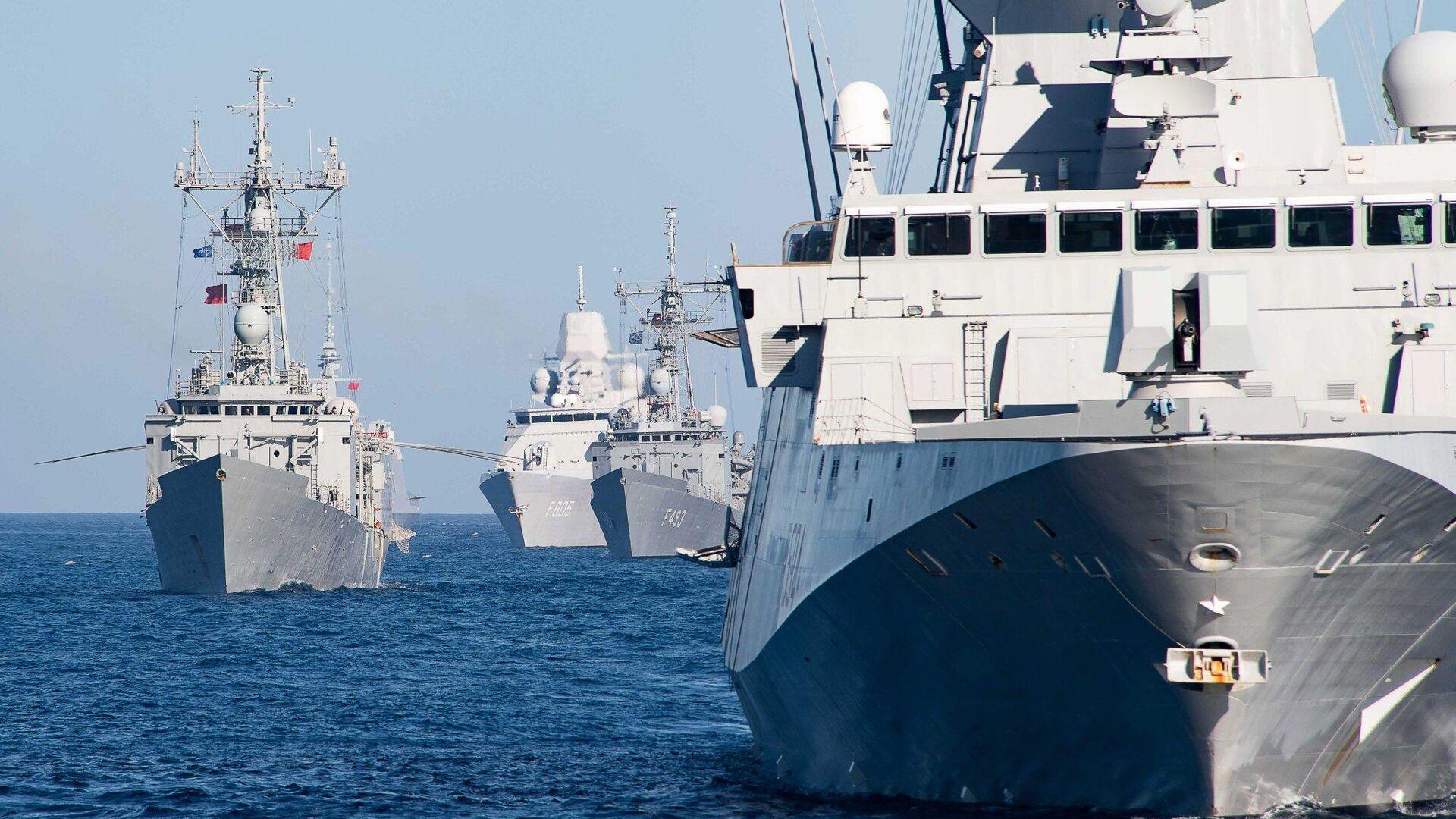 Корабли НАТО, вошедшие для учений в Черное море - РИА Новости, 1920, 12.07.2021