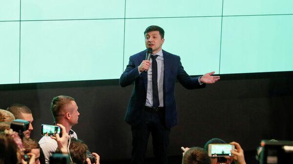 Владимир Зеленский в избирательном штабе в Киеве. 31 марта 2019