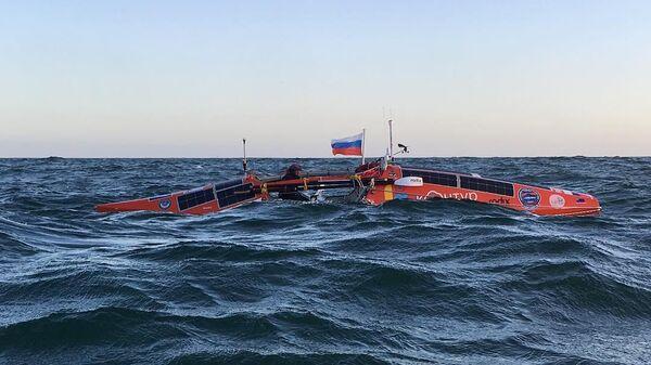 Кругосветный переход Федора Конюхова на весельной лодке АКРОС в Южном полушарии