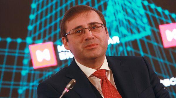 Первый заместитель председателя Центрального банка России Сергей Швецов на X ежегодном Биржевом форуме в Москве. 3 апреля 2019