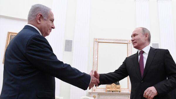 Президент РФ Владимир Путин и премьер-министр Израиля Биньямин Нетаньяху во время встречи. 4 апреля 2019 года