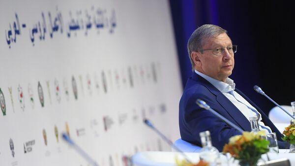 Председатель совета директоров акционерной финансовой корпорации Система Владимир Евтушенков на XII сессии Российско-арабского делового совета