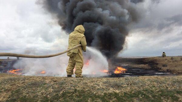 Пожар в Ставрополье