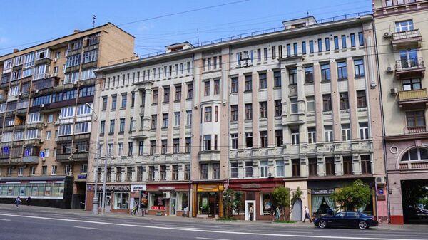 Бывший доходный дом купца Моисея Кочубея в Москве, в котором в 1913–1915 годах жил Владимир Маяковский