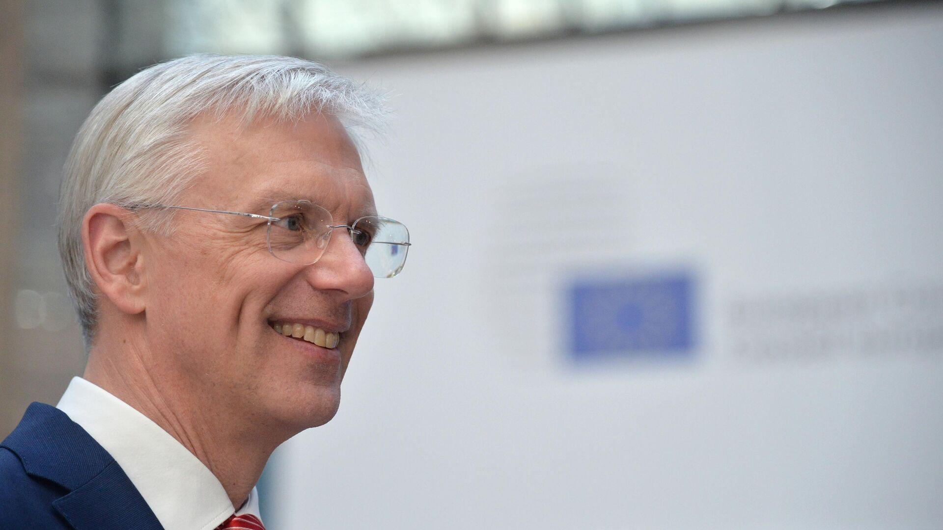 Премьер-министр Латвии Кришьянис Кариньш на экстренном саммите ЕС по Brexit в Брюсселе.10 апреля 2019 - РИА Новости, 1920, 05.01.2021