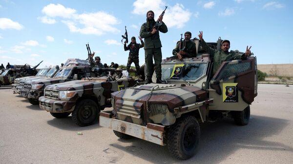 Члены Ливийской национальной армии (ЛНА) под командованием Халифы Хафтара в Бенгази, Ливия