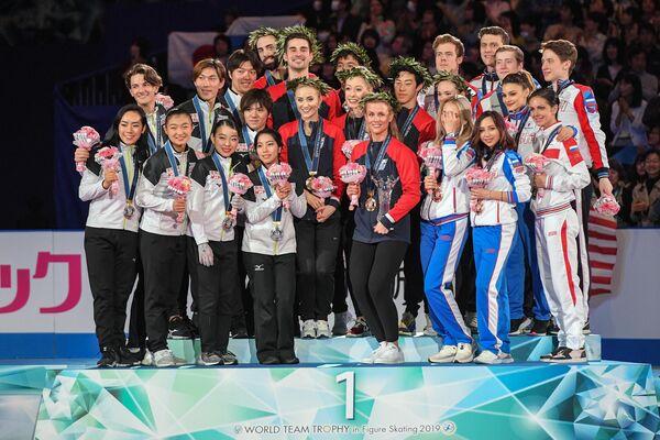 Призеры командного чемпионата мира по фигурному катанию