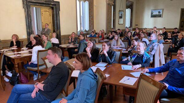 Тотальный диктант в Российском центр науки и культуры в Риме
