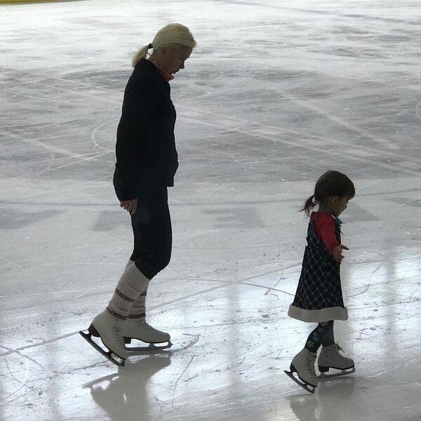 Оксана Баюл с дочерью