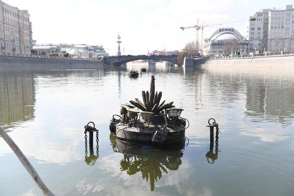 Монтаж плавающих фонтанов