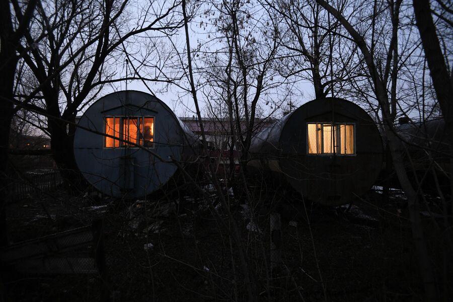 Дома-бочки в Кировском районе Омска