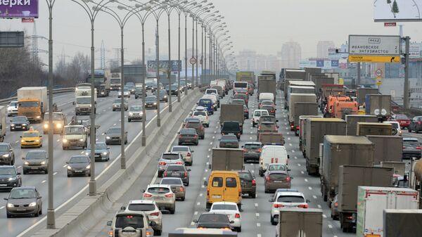 Автомобили на Московской кольцевой автомобильной дороге