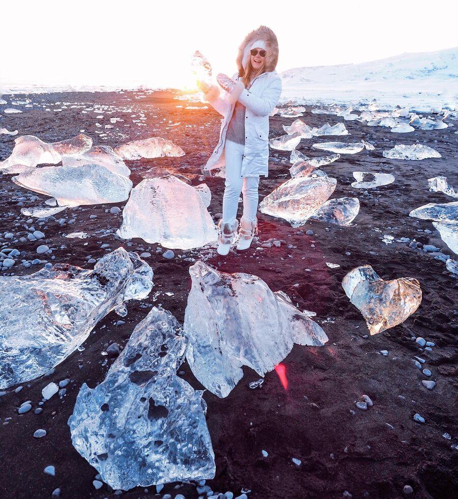 Ледяной пляж, Исландия