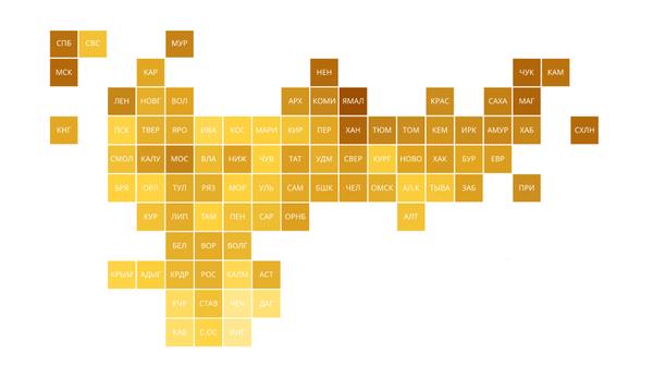 Рейтинг регионов по доступности покупки автомобилей – итоги 2018 года