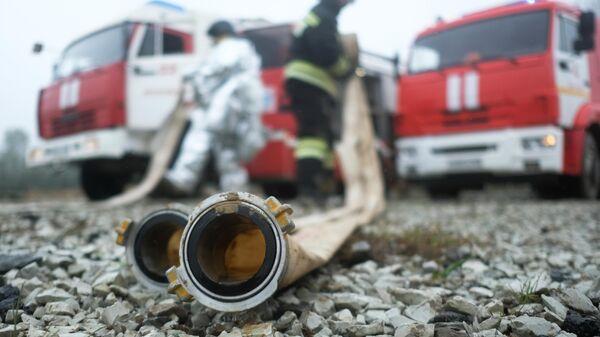 Сотрудники противопожарной службы ГУ МЧС России по Краснодарскому краю