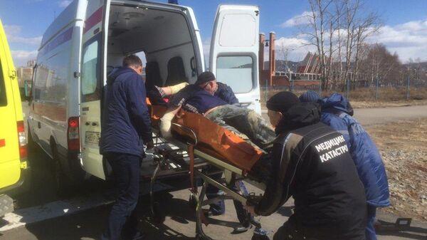 Эвакуация пострадавших при пожарах в Забайкальском крае