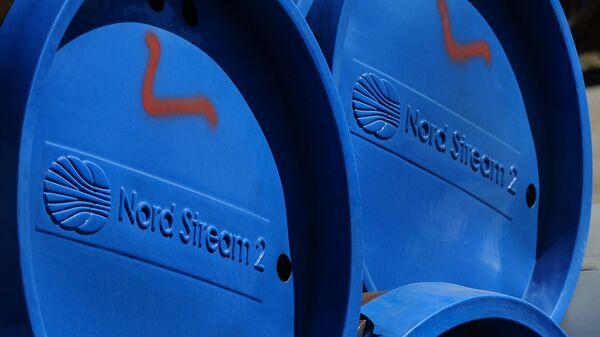 Фрагменты труб для строительства газопровода Северный поток-2