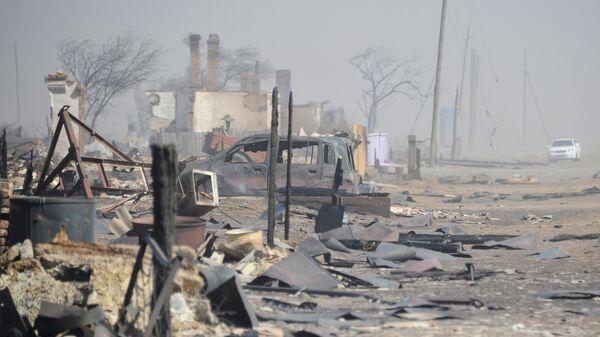 Последствия пожара в селе Усть-Ималка Ононского района Забайкальского края. Архивное фото